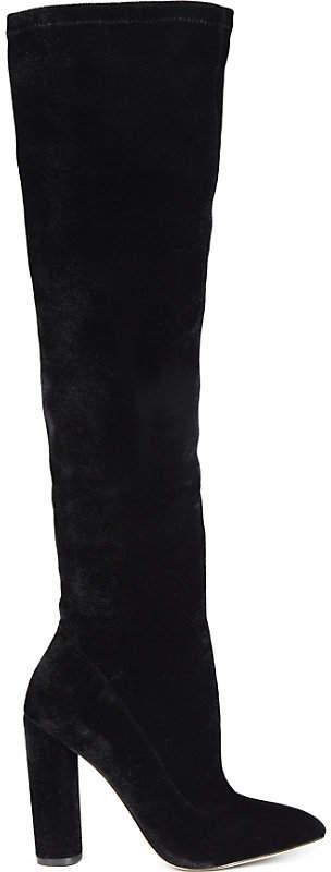 Aldo Sylvana velvet heeled knee-high boots