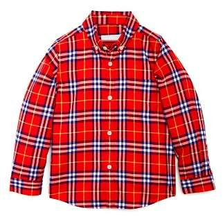 Burberry Boys' Fred Check Flannel Shirt - Little Kid, Big Kid
