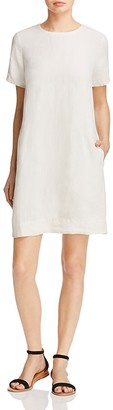 Eileen Fisher Pinstripe Organic Linen Dress $218 thestylecure.com