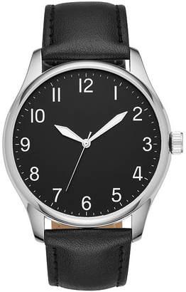FASHION WATCHES Mens Black Strap Watch-Fmdjo123