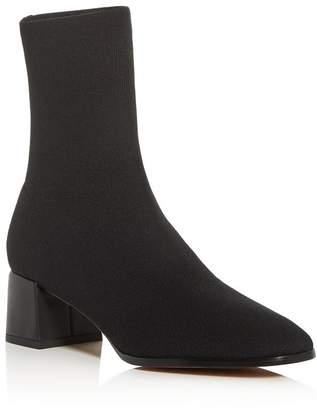 Via Spiga Women's Sienna Square-Toe Knit Boots