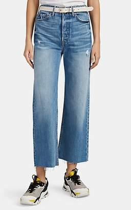 bc2658d32a725 GRLFRND Women's Bobbi Distressed Crop Wide-Leg Jeans - Blue