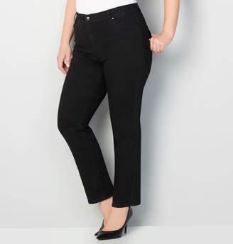 Avenue 1432 Straight Leg Jean in Black 28-32