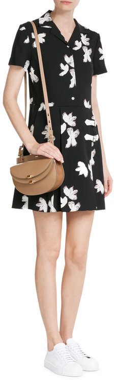 Marc By Marc Jacobs Marc by Marc Jacobs Printed Crepe Dress with Buckles