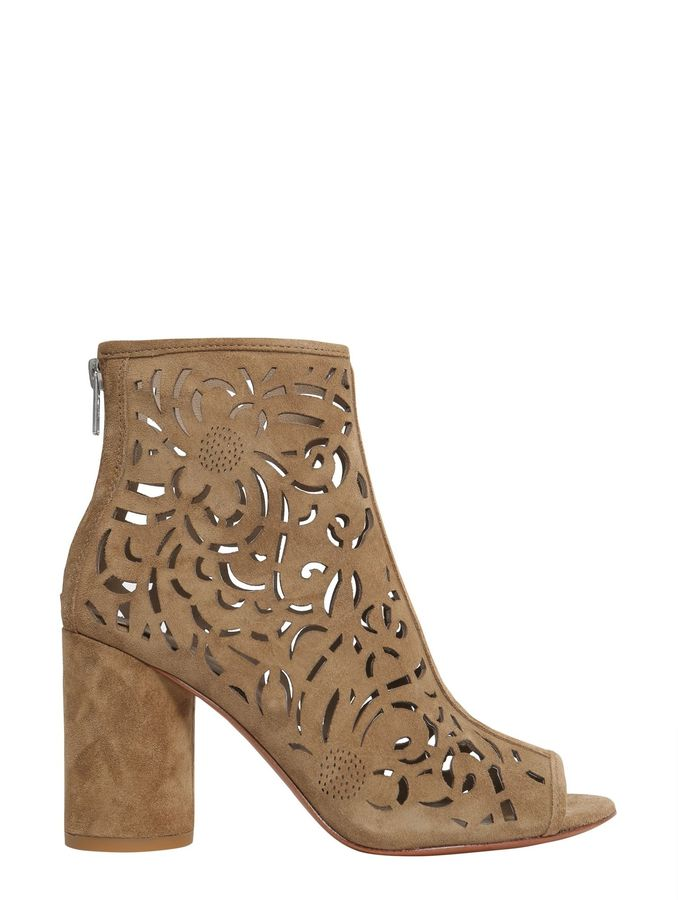 AshFever Peep Toe Ankle Boots