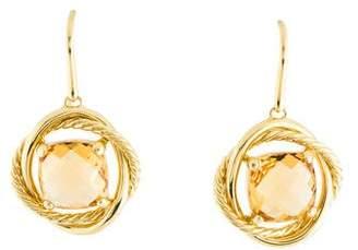 David Yurman 18K Citrine Infinity Drop Earrings