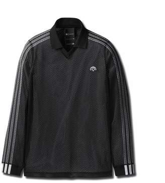 Alexander Wang ADIDAS ORIGINALS BY AW MESH LONG SLEEVE POLO