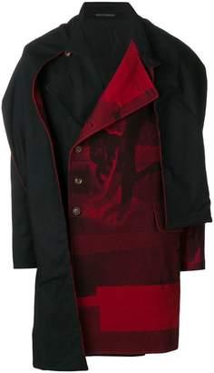 Yohji Yamamoto double-breasted cape coat