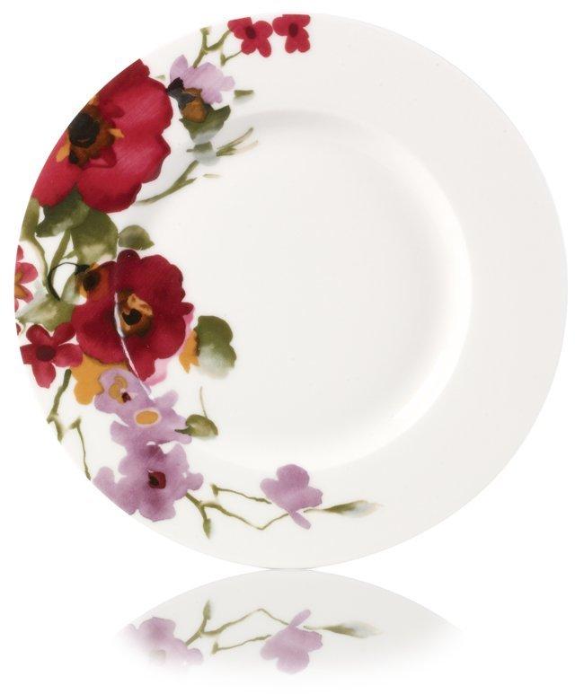 Garden Palette Bouquet Salad Plate