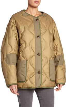 Etoile Isabel Marant Demma Faux-Fur Bomber Jacket