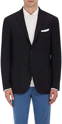 Boglioli Men's Wool Hopsack Three-Button Sportcoat - Black