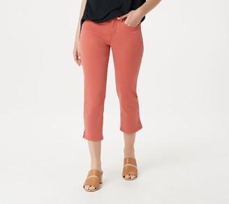 NYDJ Skinny Capri Jeans with Side Slits -Chili Pepper