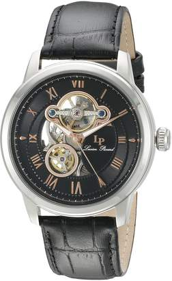 Lucien Piccard Men's LP-12524-01-RA Optima Stainless Steel Automatic Watch with Leather Band