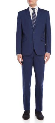 Kenneth Cole Reaction Two-Piece Blue Lightweight Cotton Suit