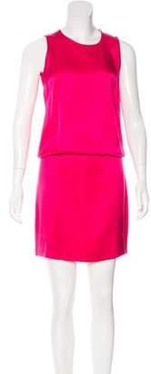 Cédric Charlier Satin Sleeveless Dress