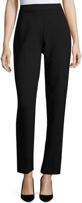 Arabella Rani Slim-Fit Double-Face Wool Pants, Black