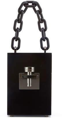 Oscar de la Renta Alibi Box Top-Handle Bag