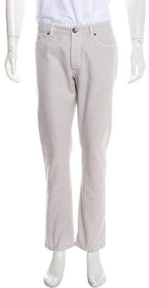 Brunello Cucinelli Twill Flat Front Pants