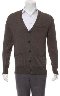 John Varvatos Woven Button=Up Cardigan