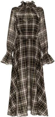 DAY Birger et Mikkelsen Beaufille Sol high neck check print cotton silk blend dress