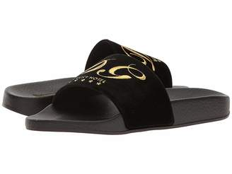 Dolce & Gabbana Rubberized Leather Pool Slide Women's Sandals