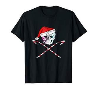Holiday Skull and Cross bones Santa Hat Gothic T Shirt