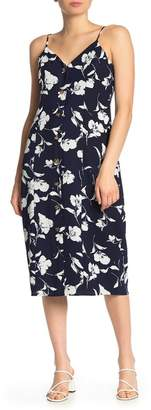 Everly Floral Button Up Midi Dress