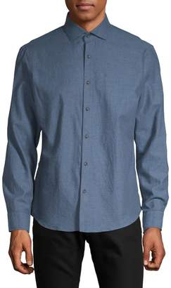 Black Brown 1826 Long-Sleeve Button-Down Shirt