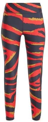 The Upside Tiger Print Performance Leggings - Womens - Red Multi