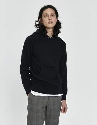 Velva Sheen Hooded Sweatshirt in Black