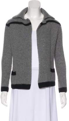 Chanel Wool & Angora Cardigan Grey Wool & Angora Cardigan