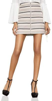 BCBGMAXAZRIA Brittany Lace-Up Striped Skirt