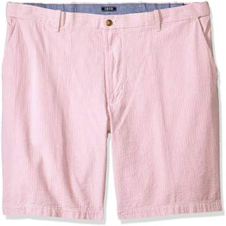 Izod Men's Big and Tall Seersucker Flat Front Short