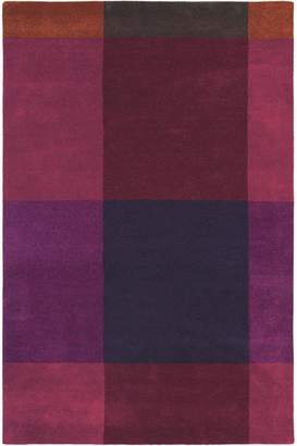 Ted Baker Unitex International Plaid Burgundy 57805 Rug