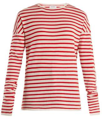 Barrie - Thistle Striped Cashmere Sweater - Womens - Red White