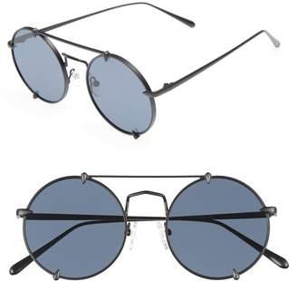 CLYDE BONNIE Bonnie Clide Pico 51mm Round Browbar Sunglasses