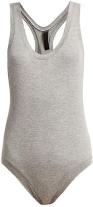 Racer-back cotton bodysuit