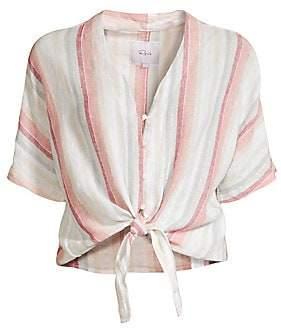 Rails Women's Thea Tie-Front Striped Blouse
