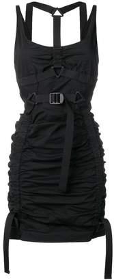 DSQUARED2 ruched harness mini dress