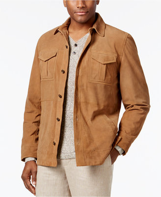 Tasso Elba Men's Suede Jacket, Only at Macy's $500 thestylecure.com