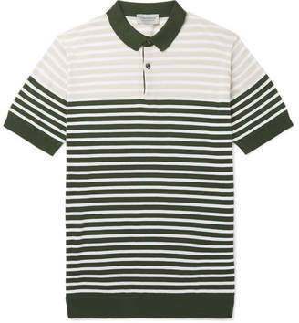 John Smedley Eddris Slim-Fit Striped Sea Island Cotton Polo Shirt