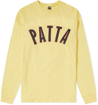 Patta Long Sleeve Curve Logo Tee