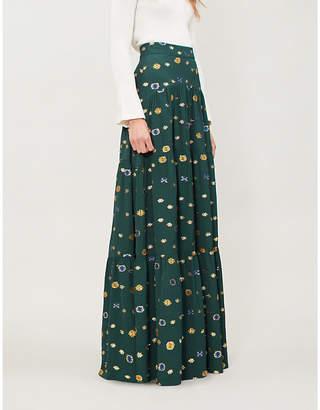 Peter Pilotto Floral-jacquard crepe maxi skirt