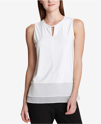 Tommy Hilfiger Sleeveless Mixed-Media Top