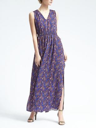 Paisley Gathered Maxi Dress $158 thestylecure.com