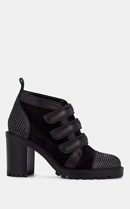 Christian Louboutin Women's Trinny Suede & Nubuck Ankle Boots - Version Black