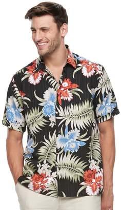 Big & Tall Havanera Classic-Fit Multi-Color Floral Linen-Blend Button-Down Shirt