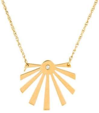 Jennifer Zeuner Jewelry Diamond Cali Sunburst Pendant Necklace