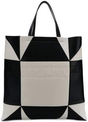 Calvin Klein embossed monochrome tote