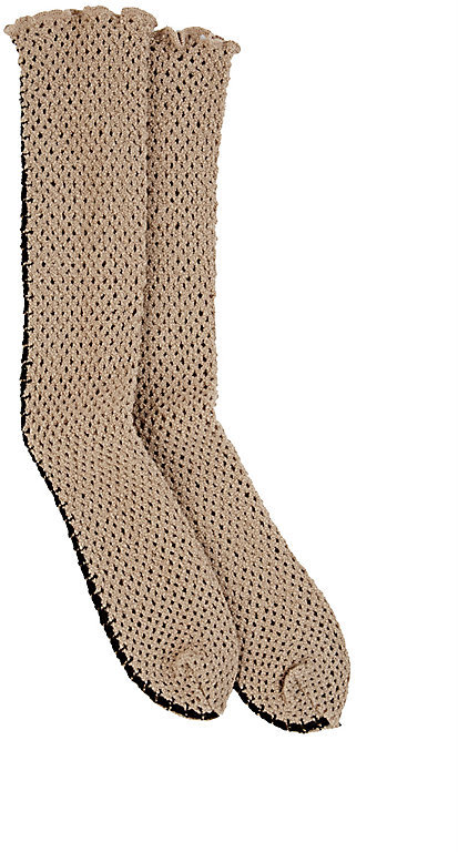 Antipast Antipast Women's Crochet Fishnet Mid-Calf Socks